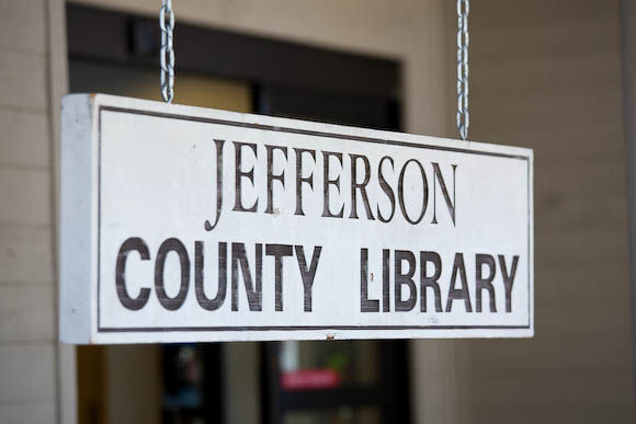 Image of Jefferson County Library hanging sign