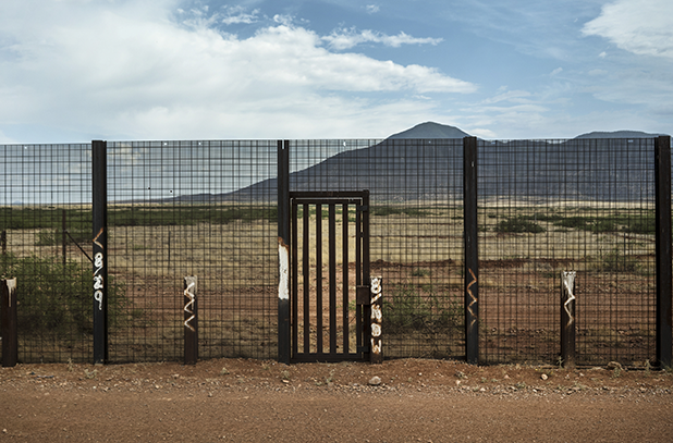 Image of a wall along the Mexican-United States border