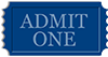 Blue Admission Ticket