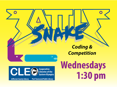 Battlesnake Coding and Competition: Wednesdays @ 1:30 pm
